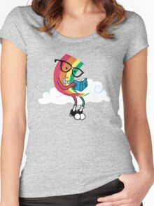 Reading Rainbow Women's Fitted Scoop T-Shirt