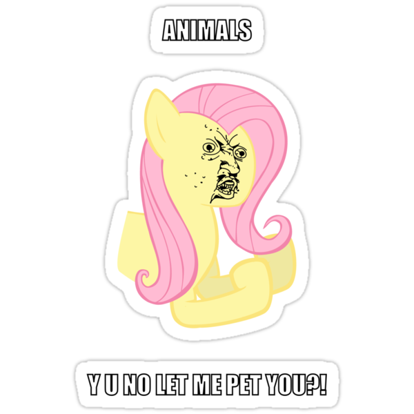 Fluttersy Y U NO by BlackPenguin