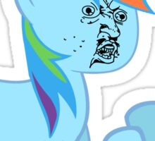 Rainbow Dash Y U NO Sticker