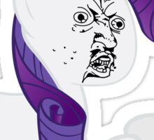 Rarity Y U NO Sticker