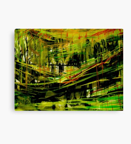 deep valley forest.... wall sketches Canvas Print