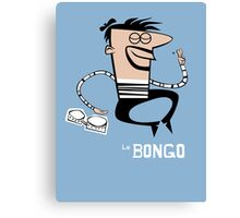 Le Bongo: Beatnik playing the bongos cartoon Canvas Print
