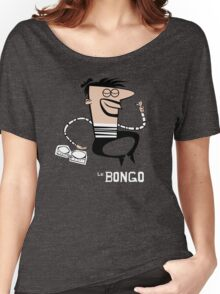 Le Bongo: Beatnik playing the bongos cartoon Women's Relaxed Fit T-Shirt
