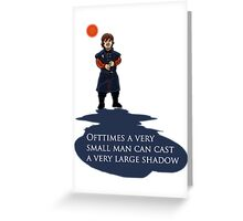 Small Man, Large Shadow Greeting Card