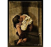 Homeless in Oil Photographic Print