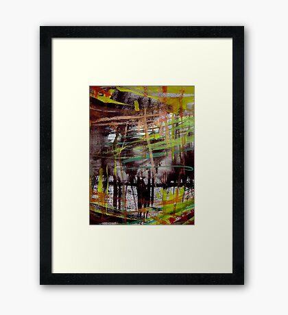 sketch wall.... deep forest Framed Print