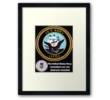 The Navy Remembers Its War Dead for Dark Colors Framed Print