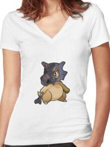 Cubone - Pokemon Women's Fitted V-Neck T-Shirt