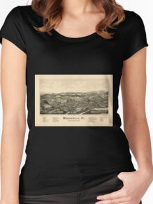 Panoramic Maps Morrisville Vt Women's Fitted Scoop T-Shirt