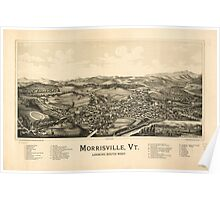 Panoramic Maps Morrisville Vt Poster