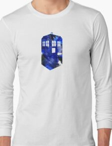 Tardis Watercolor Long Sleeve T-Shirt