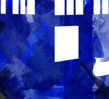 Tardis Watercolor Sticker