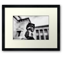 Ninjas in the city Framed Print