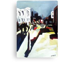 Abstract city shapes Canvas Print
