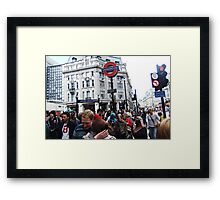 Oxford Circus Station Framed Print