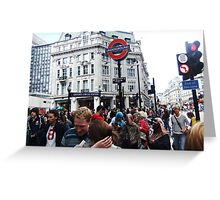 Oxford Circus Station Greeting Card