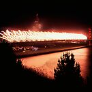 Fireworks - 75th Anniversary of the Golden Gate Bridge by Rodney Johnson