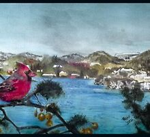 Red cardinal,Bermuda by buddybetsy