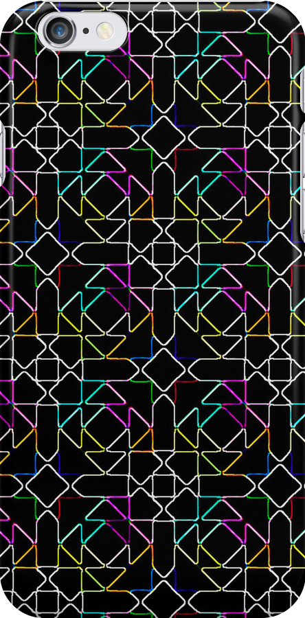 Neon Triangles by jlv-