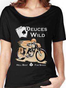 Deuces Wild Cafe Racer Women's Relaxed Fit T-Shirt