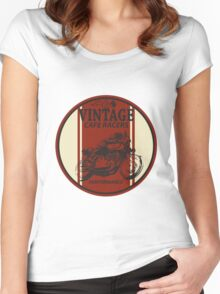 Vintage Cafe Racer Women's Fitted Scoop T-Shirt