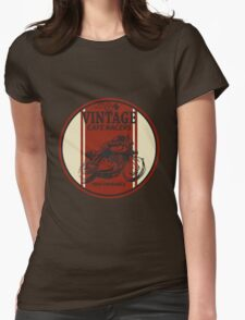 Vintage Cafe Racer Womens Fitted T-Shirt