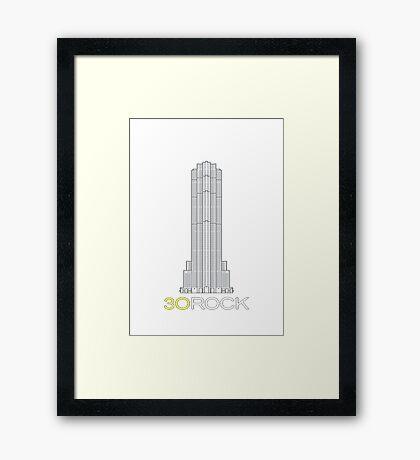 30 Rock Framed Print
