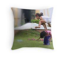 kids play Throw Pillow