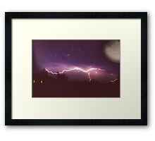 Thunderstorm and the Universe Framed Print