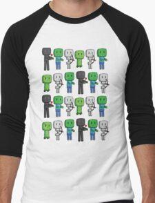 Minecraft Mobs Men's Baseball ¾ T-Shirt