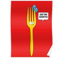Eat My Shorts - Bart Simpson Poster