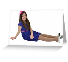 Attractive ten year old girl Greeting Card