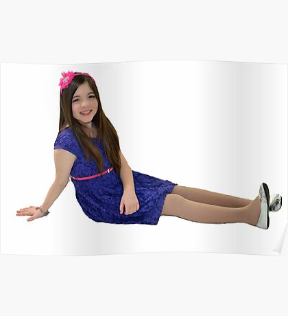 Attractive ten year old girl Poster