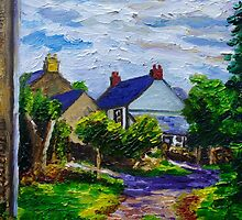 'A Turn on Town Lane,  Mullaghdubh, Islandmagee, County Antrim.' by Laura Butler