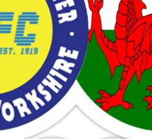 Club & Country - Leeds & Wales Sticker