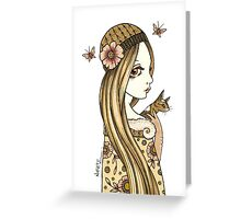 Priscilla and Pearl Greeting Card