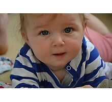 Gus in blue and white Photographic Print