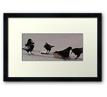 The Party's Over Framed Print