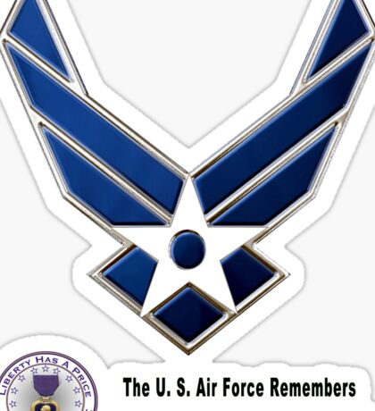 Air Force Remembers  Sticker