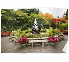 Sit Awhile in Butchart Gardens Poster