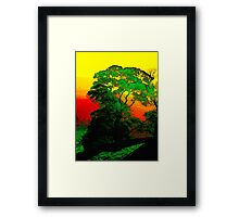 Sunrise In The Peaks Framed Print