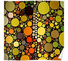 hipster fashion autumn colors brown green orange circles Poster