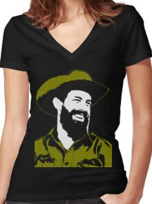 Camilo Cienfuegos Women's Fitted V-Neck T-Shirt
