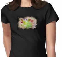 Flowers.  Womens Fitted T-Shirt