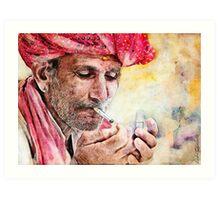 Mr.Smoker Art Print
