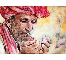 Mr.Smoker Photographic Print