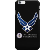 Air Force Remembers for Dark Colors iPhone Case/Skin