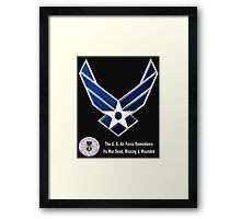 Air Force Remembers for Dark Colors Framed Print
