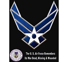 Air Force Remembers for Dark Colors Photographic Print