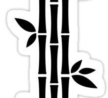 Black and white Bamboos Sticker